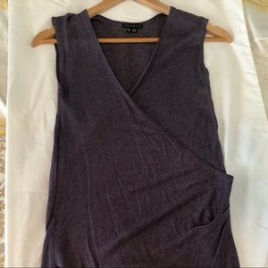 NWOT Theory sleeveless top - purple, linen blend